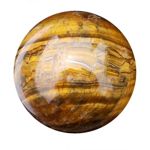 Tiger Eye Fortune Telling Crystal Ball Gemstone Sphere for Meditation 63mm 360g (TE16)